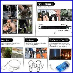 101 in 1 Emergency Survival Gear First Aid Kit Camping Hiking Tactical EDC Pouch