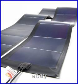 12V 24V Rollable Flexible thin film solar panel module for Camping military158W