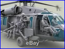 135 Scale US HH-60G Pave Hawk Helicopter crew set 7 figures resin model