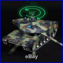 16 124 German Leopard Remote Control Military Battle Tank NEW with Cannon R/C
