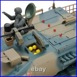 16 124 RC Airsoft Battle Leopard Military Tank NEW with Lights BB Turret R/C 6CH