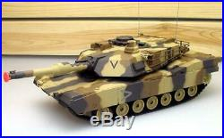 16 124 RC Airsoft Battle Tan Military NEW with Lights BB Turret R/C M1A2 Abrams