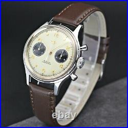 1963 Dong Feng HKED Seagull ST19 Chronograph watch 38mm Swan Neck Venus 175