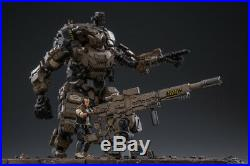 1/25 Movable Military Mecha Model Transformable Robot PVC Action Figure Toy Gift