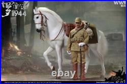 1/6 IQO Model 91008A White War Horse Animal Model WWII 1944 Military Toy
