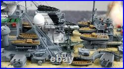 1/700 Fully Assembled Ship Model With Seascape Base The KMS Bismarck Diorama