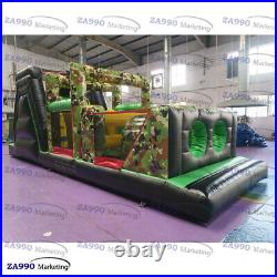 26x8.2ft Commercial Inflatable Military Army Course Obstacle With Air Blower