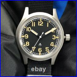 36MM British Air Force Pilot Watches Stainless Steel Men's Automatic Wristwatch
