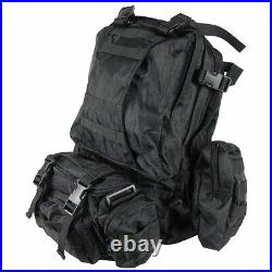3 Day Assault Pack Black Special Ops Backpack Military MOLLE Rucksack