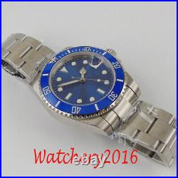 40mm Blue Sterile Dial Sapphire Glass Date NH35A Automatic Movement men's Watch
