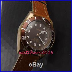 41mm CORGEUT Coffee Dial Bronze plated Case MIYOTA Sapphire Automatic mens Watch