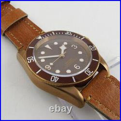 41mm Sapphire Men's Automatic Watch Japan NH35 Movement Black Dial Bronze Plated