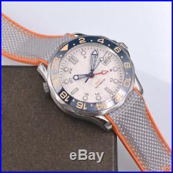 41mm bliger GMT Sapphire glass white Sterile dial Luminous Automatic men's watch