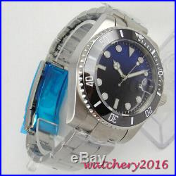 43mm Sterile Dial luminous hands Date Sapphrie Glass NH35 Automatic men's Watch