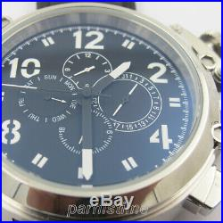50mm Automatic Movement Men Russian Military Watch 24-Hours Day Month Indicator