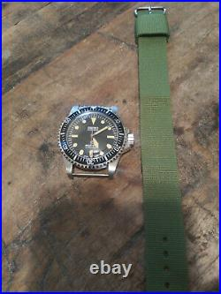5517 Milsub Submariner Seiko NH35 Automatic Stainless Mens Diver Watch Nice