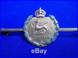 9ct Gold and Enamel Military Sweethearts Brooch China Prince Of Wales Regiment