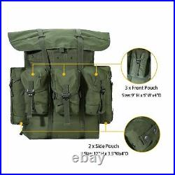 AKMAX Military ALICE Pack Large Rucksack Army Bag with Frame/Straps Olive Drab