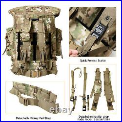 AKMAX Military ALICE Pack Tactical Rucksack Army Backpack with Frame Multicam