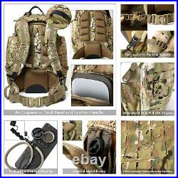 AKMAX Military Large Rucksack Army Tactical MOLLE 3 Day Assault Pack Multicam