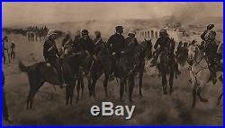 Antique Military Print Campaign In China (1860) Infantry Soldier Officer Sword