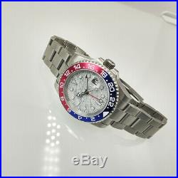 Automatic GMT watch Meteorite sterile dial luminous 40mm sapphire glass G-M1