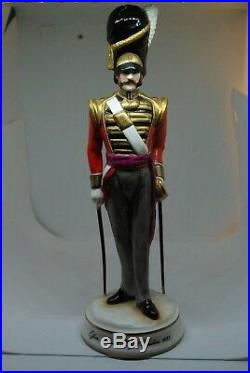 Bone China Figurine. Military Figure. 7th Royal Fusiliers Officer. Michael Sutty