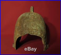 CHINA Chinese Bronze Zhou Dynasty Military Armour Antiques Asia Soldier Helmet