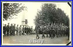 China, Military review Vintage silver print. Tirage argentique 8,5x14