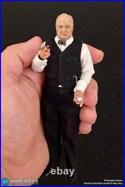 DID 1/12 XK80002 WWII British Leader Winston Churchill Action Figure With Dog