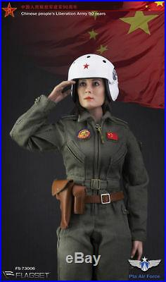 FLAGSET FS-73006 China Army Military Female Pilot 1/6 Female Action Figure Toy