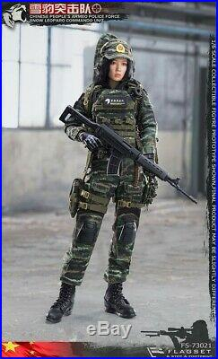 FLAGSET FS-73021 1/6 China Snow Leopard Commando Female Sniper Shooter Toys Gift