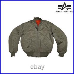 Flight Jacket MA1 Military Army Pilot Air Force Alpha Industries Padded Bomber