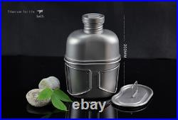 Full Titanium military Water Bottle+ Canteen cup Camping & Hiking 1100ml + 700ml