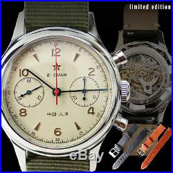 Genuine Seagull 1963 Watch Sapphire+Extra Band+Retail Box Limited Edition