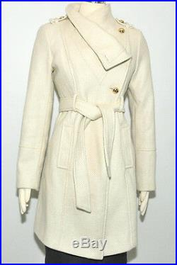 Guess coat Wool Military Asymmetrical belted 3/4 Length stylish jacket $269