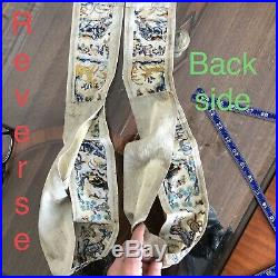 High Quality 1880 Qing Antique Chinese Silk Sleeve Band Military Gold Embroidery