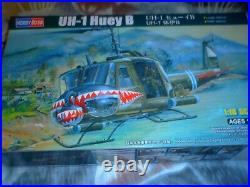 Hobby Boss 1/18 Scale 1970's Us Army The Uh-1 Huey B Military Helicop K/n 81806