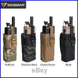 IDOGEAR MOLLE Tactical Radio Pouch For Walkie Talkie MBITR PRC148/152 Military
