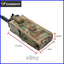 IDOGEAR Military Radio Pouch For Walkie Talkie Holder MOLLE MBITR PRC148/152