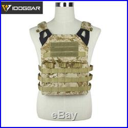 IDOGEAR Tactical Vest Airsoft Vest Plate Carrier JPC Military Hunting Multicam