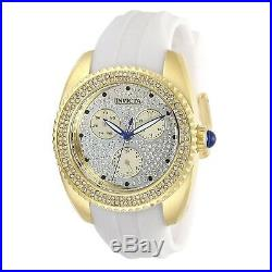 Invicta Women's Angel 28484 38mm Gold Dial Silicone Watch