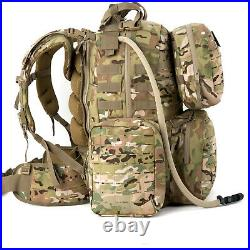 Military Army Large Rucksack Molle II Tactical Backpack with Pouches Multicam