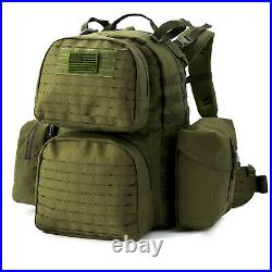 Military Army Large Rucksack Molle II Tactical Backpack with Pouches Olive Drab