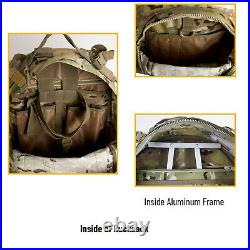 Military Army Medium Rucksack Molle II Tactical Backpack with Pouches Multicam