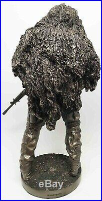 Military Collectible Navy Seal Soldier Tour of Duty Sniper Figurine Large Statue
