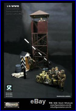 New 1/6 Scale WWII German Watchtower All Metal 16 Diorama Nazi