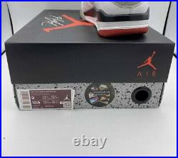 Nike Air Jordan Retro 4 IV What The SE Fire Red Military Blue Cement Grey Size 9