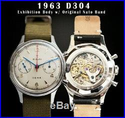 Official Seagull 1963 Watch Sapphire Crystal & Display back, BNIB UK SELLER