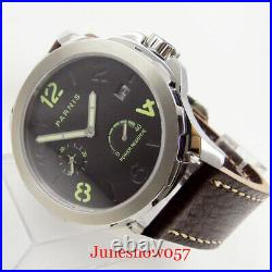 PARNIS Sapphire Glass 44mm Power Reserve ST 2530 Date Window Automatic Men Watch